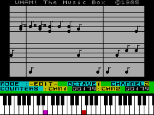 tyW1Tpc.png Wham! The Music Box. A music writing program for the ZX Spectrum.