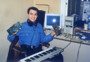 Alberto circa 1995, around the development of Asterix and Obelix.