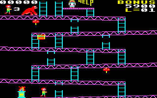 Killer Gorilla screenshot (CPC)