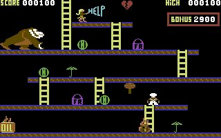 Kong screenshot (C64) Anirog
